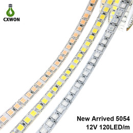 2019 qualität geführtes streifenlicht Neue SMD 5054 5050 IP65 IP67 RGB 12V Wasserdichte, nicht wasserdichte, flexible Streifen leuchten 600 Leds 5M doppelseitig mit hoher Qualität günstig qualität geführtes streifenlicht