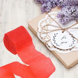 Decorações de fita de papel on-line-Rolo de serpentina de papel crepe 9 m fitas multicoloridas Favor de casamento Decorações da festa de aniversário Jardim Popular 0 4fb UU