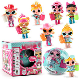 dress up toys Promo Codes - 1PC 10CM&7.5CM Beach Balls Mini Dolls Series 4 LiL Sisters Action Figures Dolls Dress Up Baby Spray Water Dolls Toys for Kids Color changes