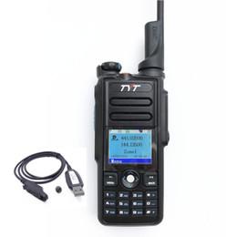 2019 cable de programación tyt TYT MD-2017 Radio Dual Banda Analógica digital bidireccional Radio 136-174 MHz 400-480 MHz md2017 Pantalla a Color con Cable de Programación GPS cable de programación tyt baratos