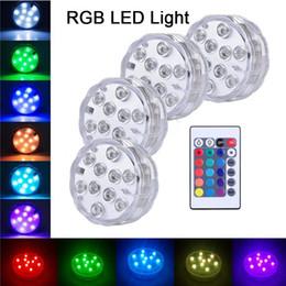 10 LED Yanıp Sönen Renk Değiştirme Dalgıç LED Işıkları Dekoratif Balık Kase Işık Vazo Baz Çiçek Lamba Düğün Cadılar Bayramı Partisi için cheap led base lights for vases nereden vazolar için taban aydınlatmaları tedarikçiler