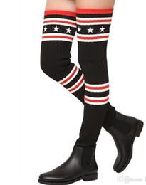 botas por encima de la rodilla Rebajas Cuero real Otoño Invierno sobre la rodilla Botas largas Diseñador de la marca Calcetines elásticos Kelly Mujeres Botas rectas Tamaño 35-40