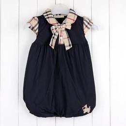 Roupas britânicas on-line-2019 primavera e no verão novas meninas lapela vento britânico de manga curta camisa de algodão xadrez vestido de roupas infantis