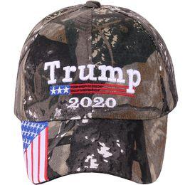 Canada Donald Trump 2020 Cap Camouflage Drapeau USA Casquettes De Baseball Garder L'Amérique grand camo Chapeau 3D broderie Lettre Lettre Camo Armée Offre