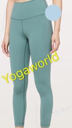 Desgaste de fitness feminino on-line-Mulheres 7/8 apertado Yoga Pants Outfits Ladies Sports completa Leggings Senhoras Exercício Fitness Wear Meninas Marca Correndo Leggings OMEGA
