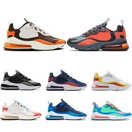 Nike Air Max 270 React Mode Reagieren Männer Turnschuhe Designer Frauen Laufschuhe Chassures Bauhaus Optische Weiß Schwarz Sport Zapatos Größe 36 47