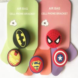2019 marcos de spiderman Soporte para teléfono celular 3D Nuevo soporte para anillo Iron Man Soporte de airbag estirado Marco de equipo de EE. UU. Spiderman Soporte perezoso de dibujos animados marcos de spiderman baratos