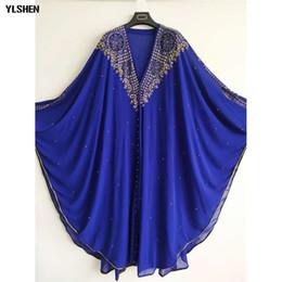 2020 abbigliamento musulmano nuovo abaya Lusso abiti africani per le donne 2019 vestiti dei nuovi africani Dashiki diamante Abaya Dubai Robe da sera lungo musulmano abito Hood del Capo abbigliamento musulmano nuovo abaya economici