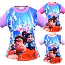 mädchen film cartoon Rabatt Jungen Mädchen Ralph Durchbricht das Internet T-shirts 2019 Neue Kinder Cartoon Film Baumwolle Kurzarm T-Shirt Baby Kinderkleidung C