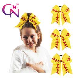 Deutschland Bogenhaarring der HEISSEN amerikanischen Fußballbaseballkinder cheerleading Gummiband Mädchen-Hairbows-Kopfschmuck-handgemachte Haar-Zusätze cheap football rubber bands Versorgung