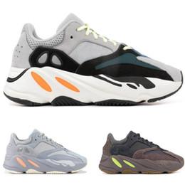 Sapatos de bebê cinza on-line-Corredor de Onda das crianças 700 Crianças Running Shoes Cinza Sólida Criança Infantil Kanye West Formadores Pequeno Grande Meninos Meninas Designer Bebê Sneakers