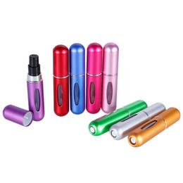 Argentina Hot 13colors 5ml Recargable Mini Botella de Spray de Perfume Aerosol de Aluminio Atomizador Portátil de Viaje Contenedor Cosmético Perfume Bottle 80x17mm Suministro