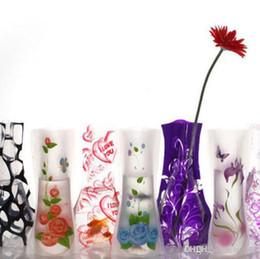 2019 металлические плантаторы Экологичный складной складной цветок из ПВХ Прочная ваза для дома Свадьба Легко хранить 27 х 12см