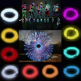 power el wire Promo Codes - 3M Flexible EL Wire Tube Rope Battery Powered Flexible Neon Light Car Party Wedding Decoration With Controller