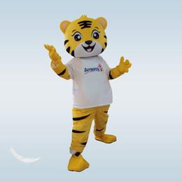 traje de mascote do tigre dos desenhos animados Desconto Traje da mascote do tigre adulto adorável rei tigre mascote dos desenhos animados vestuário fancy dress natal para o evento do partido do dia das bruxas