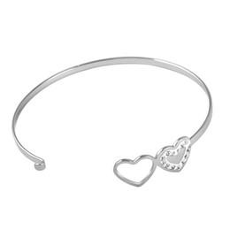2019 braccialetti d'argento puro all'ingrosso CH-617 donne uomini amanti braccialetto Hot Rose Gold / argento lega lettera fascino braccialetto gioielli personalità femminile per le donne
