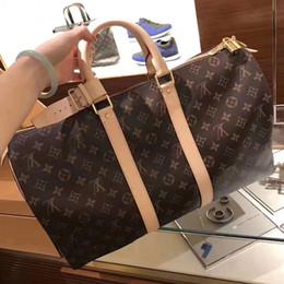 Nuevo patrón Mujeres Hombres Duffel Bags Casual Diseñador de la Marca Bolsos de viaje de hombro de alta calidad Llevar en el equipaje Keepall Bag diseñador bolsos desde fabricantes