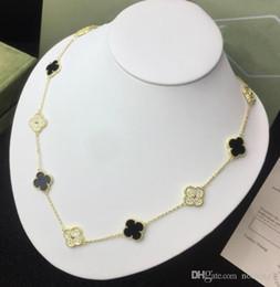 Colar vintage de malaquite on-line-Designer de Alhambra Do Vintage Jóias de prata esterlina 925 Onyx Preto / Red Onyx / Fritillary Branco / Malaquita Diamantes mulheres colar de casamento