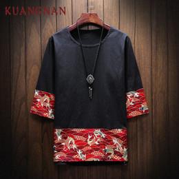 Красный карп онлайн-KUANGNAN Red Carp Печатный Футболка Мужская Мода Harajuku Streetwear Смешная Футболка Мужская Футболка Хип-Хоп Футболка 5XL Лето 2019