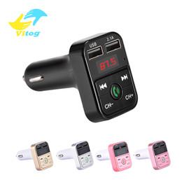 2019 accesorios cargador para coche Coche Bluetooth Transmisor FM Receptor de Audio de Manos Libres Inalámbrico Auto LED Reproductor de MP3 2.1A Dual USB Cargador Rápido Accesorios para Coche