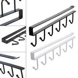 2019 armadio a gancio 6 Supporto Ganci Cup Hang Kitchen Cabinet Sotto mensola rack di stoccaggio dell'organizzatore Hook sconti armadio a gancio