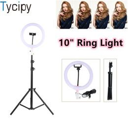 """Argentina Tycipy 10 """"Ring Light Photo Regulable Estudio Cámara Maquillaje Ring Light Kit Teléfono Video Lámpara con trípode para teléfono inteligente Suministro"""