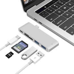 2019 adaptador para slot para cartão sd USB Tipo C Hub para Leitor de Cartão USB C Hub 3.0 Adaptador Combo Com Slot SD Para MacBook Pro 2016 2017 Entrega de Energia USB-C adaptador para slot para cartão sd barato