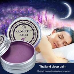 Sahne-lavendel online-Schlaflose Creme Verbessern den Schlaf Beruhigen die Stimmung Lavendel Aromatischer Balsam Schlaflosigkeit Entspannen Aromatischer Balsam Düfte Deodorants Festes Parfüm