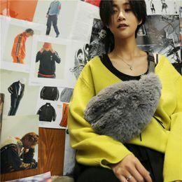 Nuevo 2019 del vientre del hombro invierno de la piel de la cintura bolsa de imitación de visón Bananka Ocio bolso de la señora Fanny Pack de las mujeres del bolso de Crossbody Banda Cinturón desde fabricantes