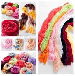 Cravate multicolore en Ligne-Foulards en soie de couleur bonbon à la mode et le moins cher foulard en soie transparente pour femme châle Fold foulard serviette filaire T10C006