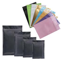 цветной пищевой пластик Скидка 8 Цветных Пластиковых Пакетов Майлара Алюминиевая Фольга Молния Сумка для Длительного Хранения Пищи и Коллекционирования Защита Двусторонней Цветной Травы Мешок