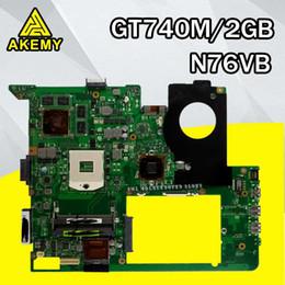Chipset per laptop online-Per ASUS N76VJ N76VB N76VZ N76VM N76V REV2.0 Scheda madre per laptop GT740 2GB DDR3 HM76 Chipset aggiornamento configurazione più alta preferisci