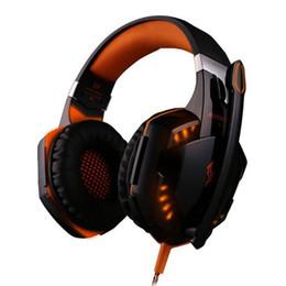 2019 yeni G2000 Gaming Headset Aşırı Kulak Oyun Kulaklıklar Surround Stereo Gürültü Azaltma Oyun oyuncu için Mic ile LED Işık nereden