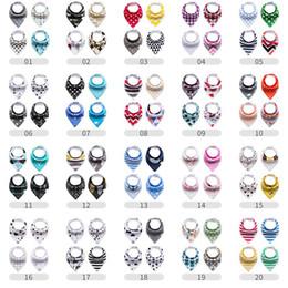 Drool bandana online-400 Designs Baby Lätzchen Bio-Baumwolle und saugfähige Baby Bandana Sabber Lätzchen für Neugeborene Jungen Mädchen Geschenk
