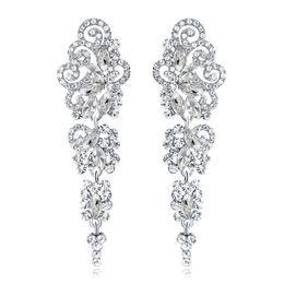 Canada Nouvelles boucles d'oreilles de mariée avec cristaux strass goutte d'eau boucle d'oreille trouvailles de mariage accessoires de mariage pour les mariées BW-042 Offre