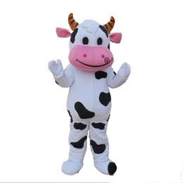 Costume della mascotte della mucca da latte online-2018 vendita calda PROFESSIONAL FARM DAIRY COW costume della mascotte fursuit fancy dress spedizione gratuita