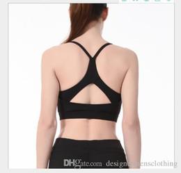 Lycra sutiã desportivo on-line-Cor sólida Mulheres Designer Sports Vest Sexy Moda Bra Casual Yoga Feminino Unerwear à prova de choque Roupa descontraída