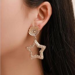 orecchini zirconi di moda stella orecchini pendenti in argento gioielli