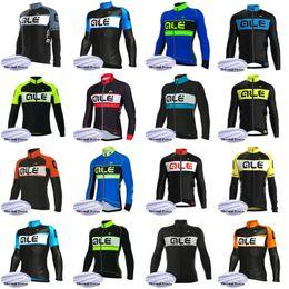 Argentina Equipo ALE Ciclismo Winter Thermal Fleece jersey chaqueta de ciclismo Hombres Ropa deportiva Ropa deportiva cómoda maillot ciclismo X71621 Suministro