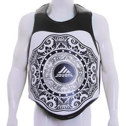 Équipement d'art corporel en Ligne-JDUanL MMA Sparring Kicking Boxe Muay Thai Coussins Poitrine Gardes Protecteur Du Corps Entraîneur Martial Arts Matériel De Formation 2019 DEO # 224963