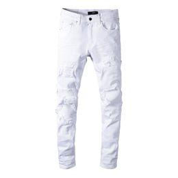 f5df3a2138705 Promotion Jeans Blanc Rasé | Vente Jeans Blancs Déchirés Pour Hommes ...