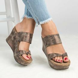 sandalias de talla grande Rebajas VTOTA Chancletas Mujer Zapatillas Plataforma Zapatos de verano sandalias feminina Cuñas de punta abierta Sandalias Negro Zapatos de mujer más el tamaño 43