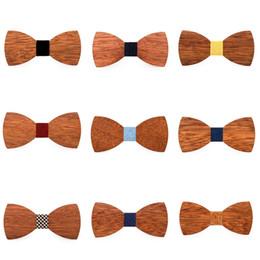 Cravatta cravatta online-Mens creativo in legno Bow Tie Moda Mens partito Business farfalla Cravatta Classic donne bambini partito Bowknot cravatte TTA1239