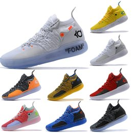 kd shoes size 12 Coupons - 2019 New KD 11 XI Foam Zoom EP White Orange Foam Pink Paranoid Oreo ICE ACE Basketball Shoes Mens Trainers Sneakers Size 7-12