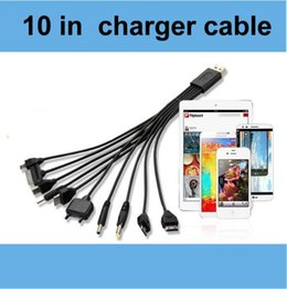4s ladegeräte Rabatt 10in1 USB-Ladegerät Ladekabel Kabel für iPhone 4 4s iPod Samsung Galaxy Nokia Sony HTC Balckberry