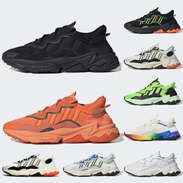 Adidas Ozweego OFF White Femmes Hommes Chaussures De Course Néon Vert Solaire Jaune Halloween Tons Baskets Baskets Noires Sneakers