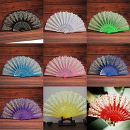 2019 giocattoli di bilanciamento del metallo Fan di danza Pp oro stampaggio fiori moda ventilatore pieghevole piccolo e squisito di alta qualità e poco costoso con diversi colori 2 6kf J1