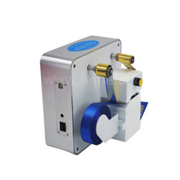 máquinas de estampado en caliente Rebajas Máquina de la impresora de la cinta de la hoja de plata del oro de sellado caliente de Digitaces para el envoltorio para regalos
