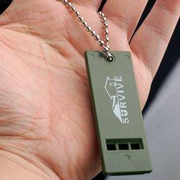 2019 matériaux de porte-clés en gros 2019 Plein air Audio Survival Whistle Kits De Premiers Soins Signal D'urgence Sauvetage Sport Arbitre Pratique Équipe Cadeau