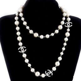 colar de ouro Desconto pérola pérolas naturais contas brancas colar para as mulheres longo camisola cadeia colar de jóias